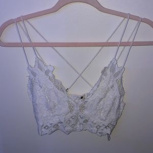 Free People White Lace Bralette Top Small